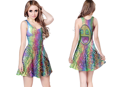 DMT Smiley psychedelic Reversible Dress - $25.99+