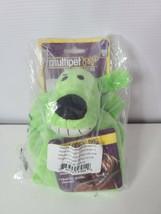 "Multipet Loofa Dog Soft Toy 6"" Green One Eye Brown Goofy Grin  - £4.94 GBP"