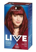 2 x Schwarzkopf Live Colour Hair Dye RED PASSION Cherry Permanent For Br... - $25.18