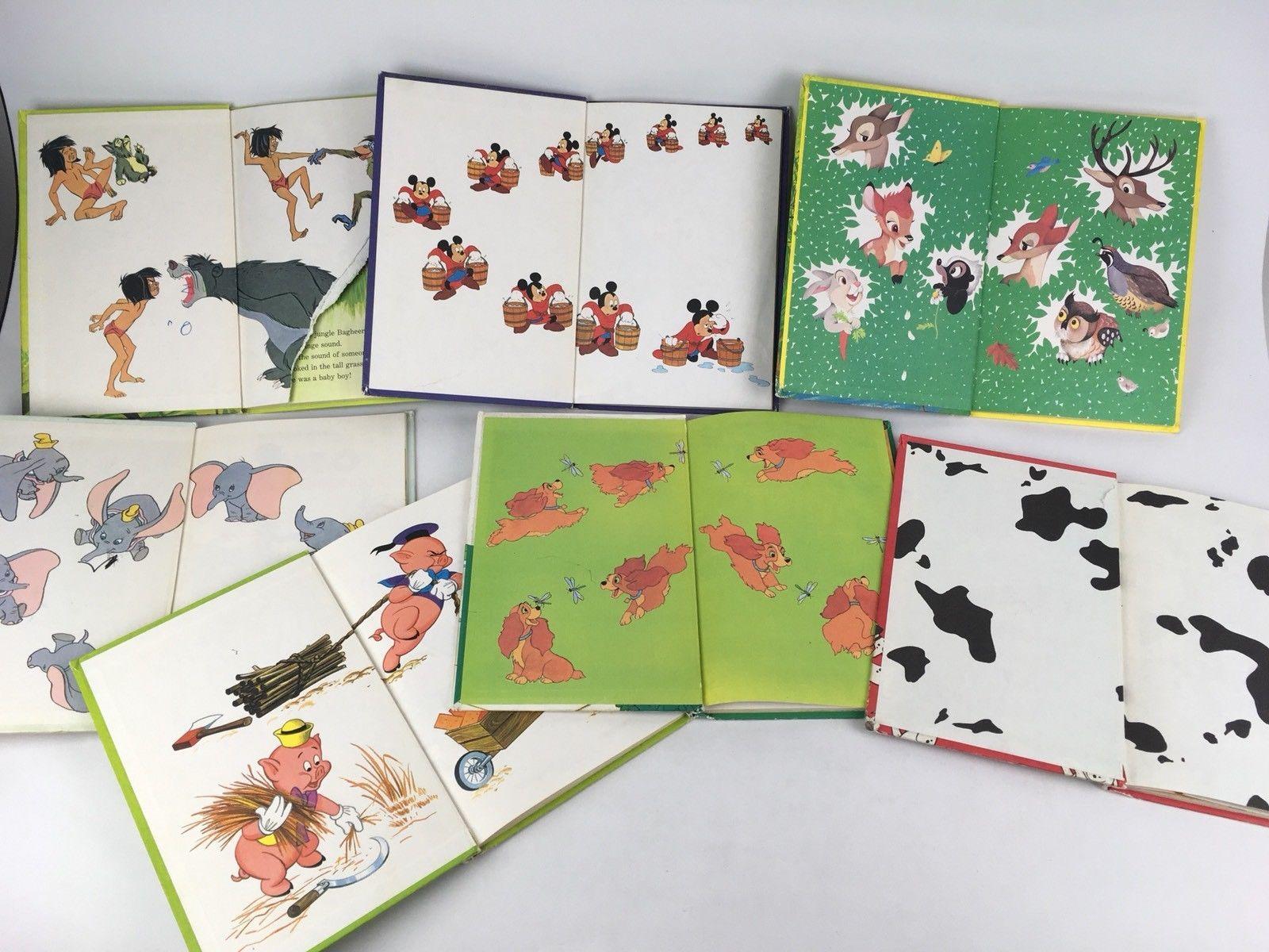 Lot of 7 Walt Disney Wonderful World of Reading Vintage Mickey Childrens Kids