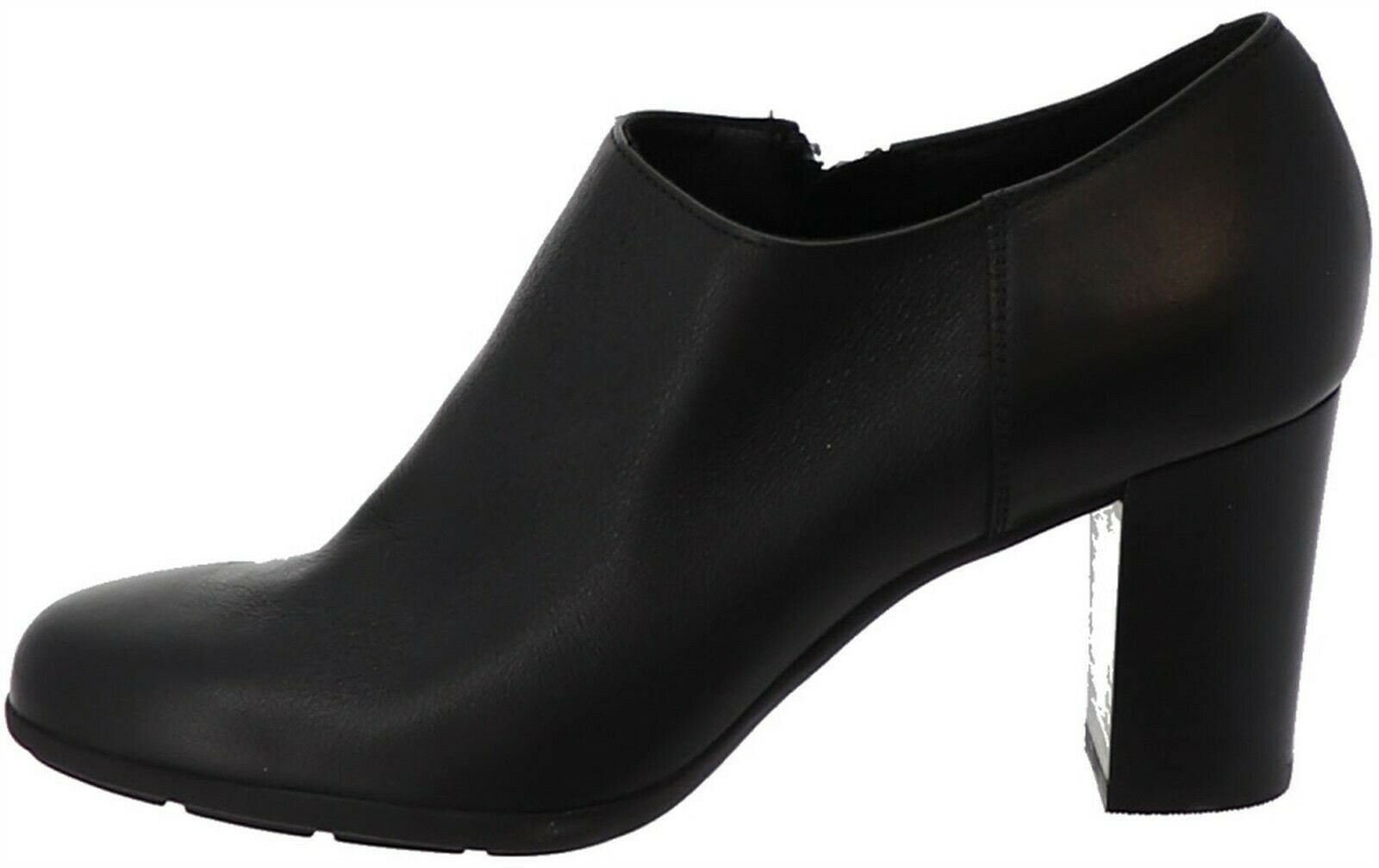 Primary image for GEOX Leather Block Heel Shooties Annya Black 10M NEW A298927