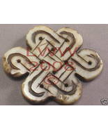 One Large Stone Carved Celtic Knot Pendant Necklace NEW - $5.99