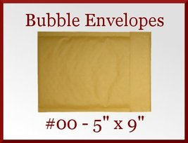 24 Kraft 00 Bubble Padded Envelopes Mailers 5 x... - $10.98