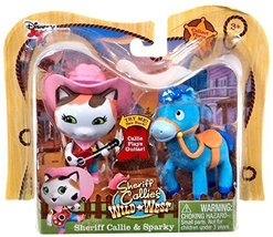 Disney Junior Sheriff Callie's Wild West, Sheriff Callie and Sparky Figu... - $30.00