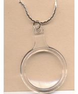 MAGNIFYING GLASS PENDANT NECKLACE-Teacher Charm Jewelry-Works! - $3.97