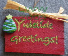 Yuletide Greetings! Yule Sign Handmade NEW Wiccan Pagan  - $4.99