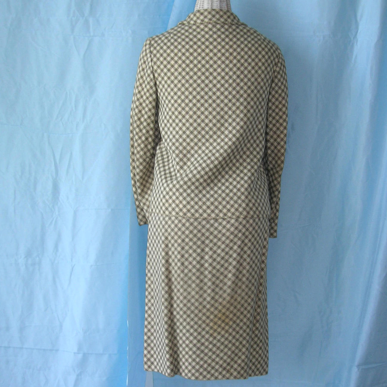 Vintage Stanley Wyllins 50s 60s Silk Tweed Suit Jacket Skirt Set