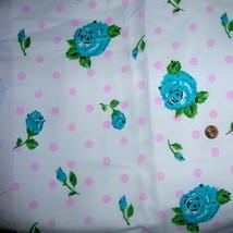 Vintage White Floral Polka Dot Cotton Denim Jea... - $36.00