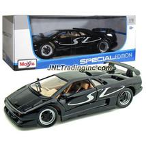 NEW Maisto Special Edition Die Cast Car Black Sport Coupe LAMBORGHINI DI... - $49.99