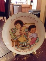 "Vintage Avon Mothers Day Collector Plate 1984 ""Love Comes In All Sizes"" ... - $9.50"