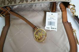 Michael Kors Bedford Small Flap Crossbody Jacquard Leaher Bag MK Beige Brown image 10