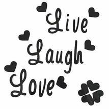 TRIXES Live Laugh Love Black Wall Decal Sticker Home Decoration  Vinyl W... - $2.90