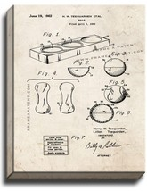 Balls Patent Print Old Look on Canvas - $39.95+