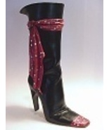 HIGH TIES Sleek Tall Boot Dangling Rhinestoned Laced Scarf Just the Righ... - $99.99