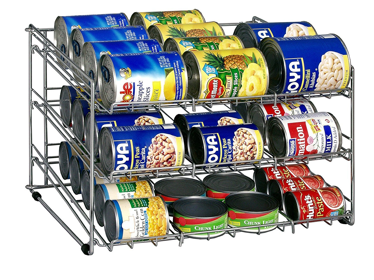 Primary image for Soup Can Rack Chrome Organize It All Pantry Cabinet Kitchen Storage Food Shelf