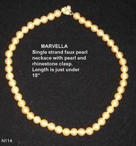 MARVELLA Vintage Imitation Pearl Necklace - $11.50