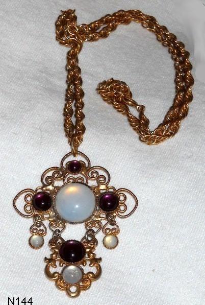 Pretty Bold Jeweled Cross Necklace Bonanza
