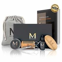 UPGRADED Premium Beard Grooming Care Kit for Men -100% Natural Unscented Beard O