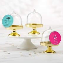 Personalized Small Bell Jar with Gold Base - Birthday (Set of 12)  - $21.99