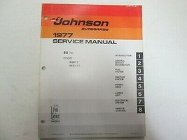 1977 Johnson Outboards 55 H.P HP Model 55E77 55EL77 Service Manual JM-77... - $24.74