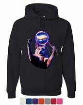Cat Catching a Sandwich Hoodie Plasma Ball Kitty Kitten Weird Sweatshirt - $22.94+
