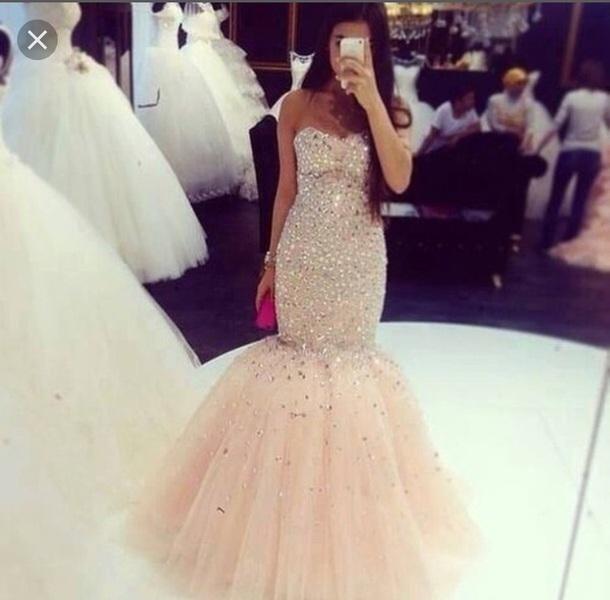 Uo18bn l 610x610 dress nude pink puffy prom dress