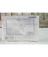 Instruction Manual User Guide for Casio QV-770 LCD Digital Camera - $12.99