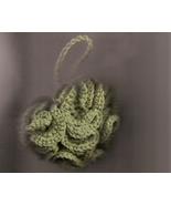 Bath Shower Puff & Wash Cloth Set Sage Green Hand Crafted  in USA Crocheted - $13.00