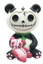 Large Furrybones Pandie Panda Costume Voodoo Cute Skeleton Monster Ornam... - $17.99