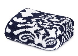 Kashwere Damask Navy Blue and White Throw Blanket - $175.00
