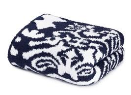 Kashwere Damask Navy Blue and White Throw Blanket - €144,02 EUR