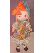 "Vintage Original Knickerbocker 16"" Holly Hobbie Rag Doll - $9.96"