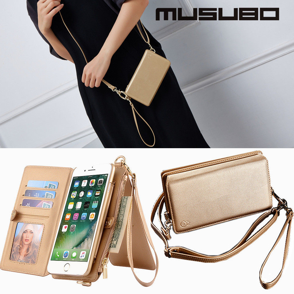 Primary image for Hand Shoulder Bag Wallet iPhone X 8 7 6 Plus Leather Case Flip Cover Note 8 S8+