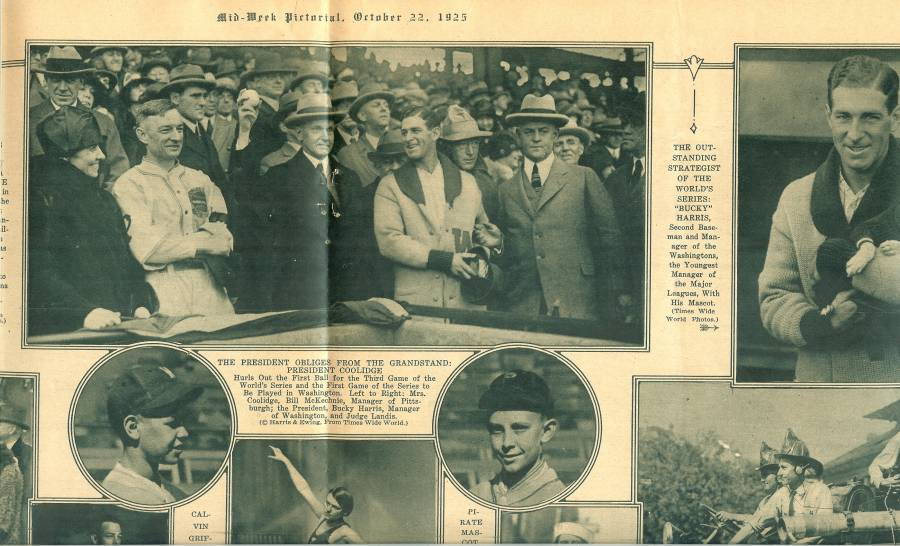 oct 1925 mid week pitorial football world series baseball magazine paper rare