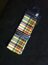Tommy Hilfiger Hommes Neuf Multicolore 100% Coton Madras à Carreaux Poch... - $27.69