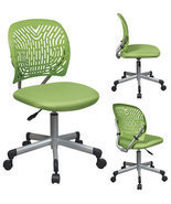 GREEN Designer Colors Office Desk Computer Flex Back & Fabric Seat Task ... - $92.00