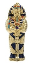 King Tut Coffin Jeweled Box Collectible Egyptian Decoration Container - $32.66