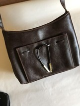 E- LIZ CLAIBORNE Villager Cross body Bag / Purse Handbag Brown Adjustable - $5.70