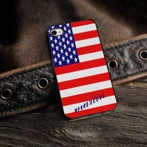 Primary image for Show Your Colors - Patriotic iPhone Cover with Black Trim