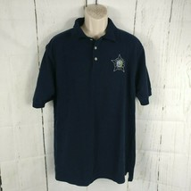 Men's South Bay Sportswear Chicago Police CPD Blue Polo Shirt Medium Fits Large - $18.00