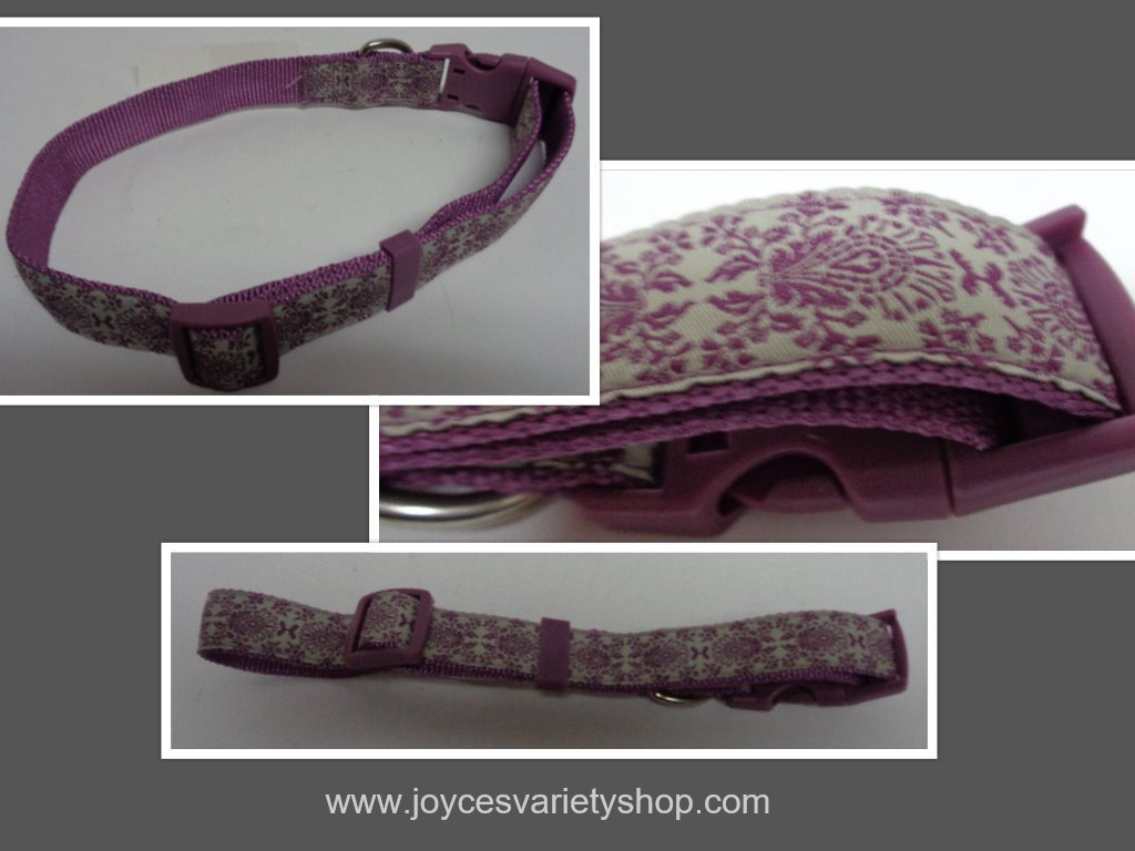 Purple dog collar collage