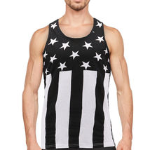 Men's USA American Flag Sleeveless Shirt Summer Beach Patriotic Tank Top image 8