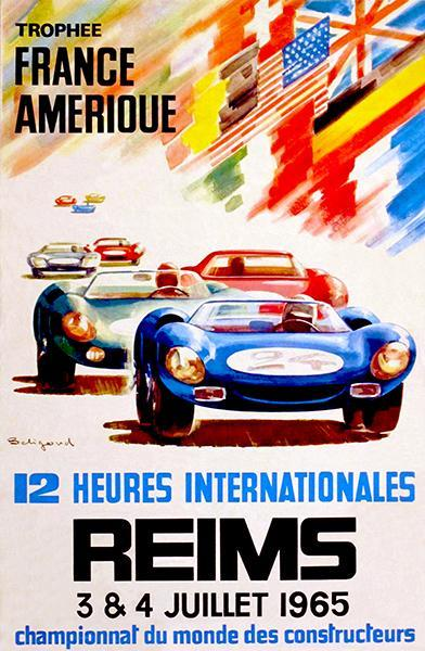 Primary image for 1965 12 Heures Internationales de Reims Race - Promotional Advertising Poster