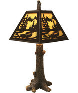 "River's Edge 24""H Rustic Tree Lamp Cabin Country Lodge Rustic Decor - $132.19 CAD"