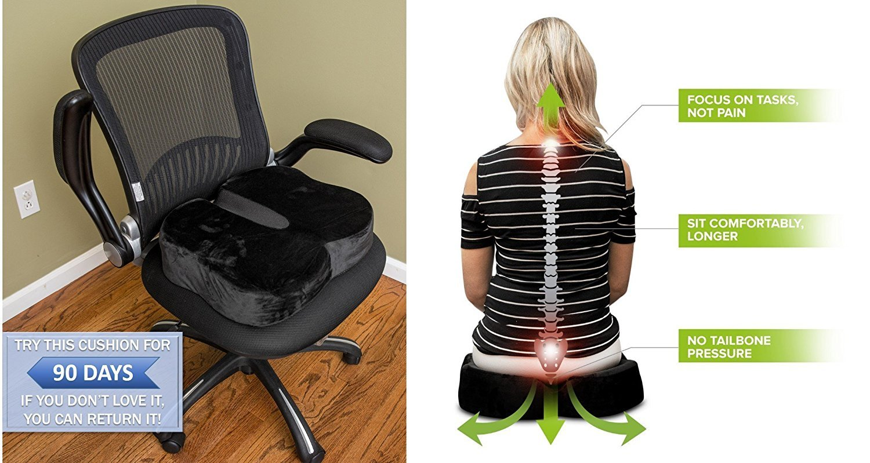 Cuscino Mckenzie Lumbar Roll.100 Memory Foam Orthopedic Seat Cushion And 50 Similar Items
