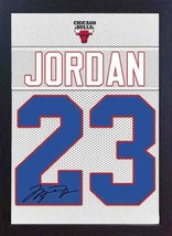 Michael Jordan Chicago Bulls signed autograph Framed 100% COTTON Canvas ... - $20.46