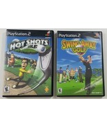 Golf PS2 Game Bundle Swing Away Golf AND Hot Shots Golf 3 Tiger Woods 2001 - $18.69