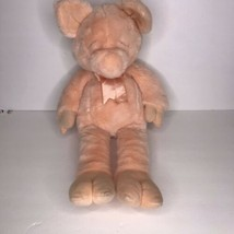 "Vtg Manhattan Toy Plush Pig Sleeping Closed Eyes 1993 Pink 18""  - $38.61"