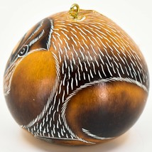 Handcrafted Carved Gourd Art Gorilla Zoo Animal Ornament Made in Peru image 2