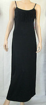 Miken Size Small Black Fringed Spaghetti Strap Maxi Coverup Dress NEW - $7.87